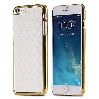 Exclusif Iphone 6S 6 coque en cuir à motifs en arrière Blanc