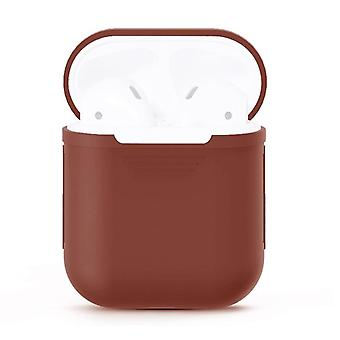 For Apple Airpods Storage Bag Brown Silicone Protective Box