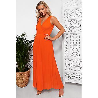 Naomi Pleated Maxi Dress