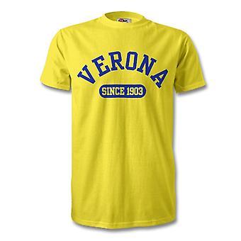 Hellas Verona 1903 perustettu Football t-paita