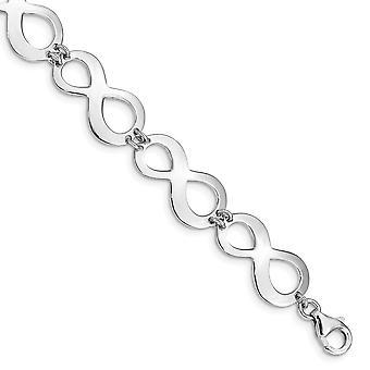 925 Sterling Silver Rhodium plaqué Infinity Avec 1in. Ext. Bracelet 7 Pouces Bijoux Cadeaux pour les femmes