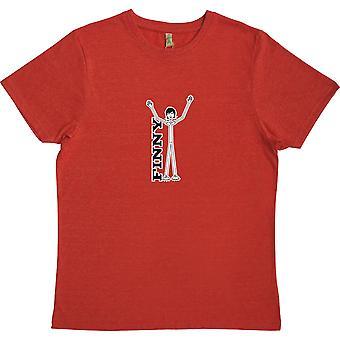 Steve Finn Red 100% kierrätetty T-paita