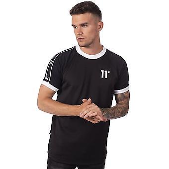 Eleven Degrees 11 Degrees 11d-1663 Taped Ringer T-shirt - Black