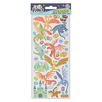 Craft Planet Dragon Castle Fun Stickers