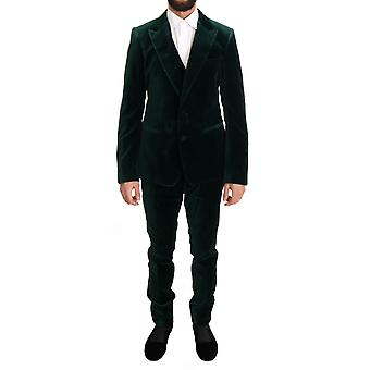 Dolce & Gabbana Green Velvet Slim Fit Two Button Suit