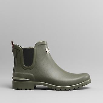 Barbour Wilton Ladies Chelsea Wellington Boots Olive