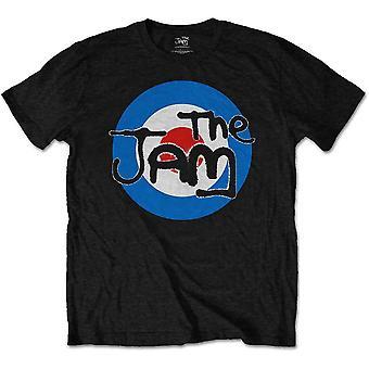 The Jam Paul Weller Logo Black Official Tee T-Shirt Mens Unisex