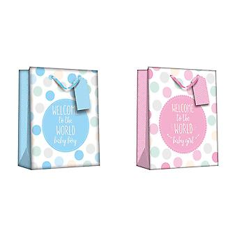 Iparty Baby Shower Gift Bags (Pack Of 6)