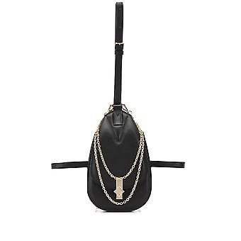 Mcm Mwzasda02bk Women's Bolsa de cuero negro