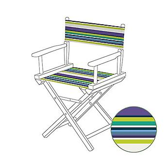 Purple Stripes Directors Chair Replacement Water Resistant Canvas Cover Garden