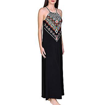 Lisca 49392-02 Women's Haïti Black Aztec Kaftan Beach Dress