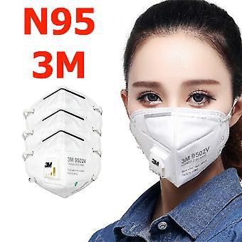 3-pack N95 3m στόμα προστατευτικό μάσκα προσώπου αναπνευστήρας 9502v