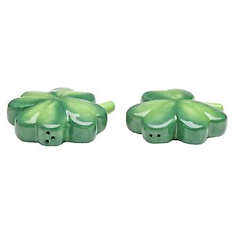 St Patricks Day Shamrock Salt and Pepper Shakers 494