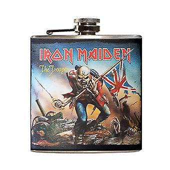 Iron Maiden Hip Flask Eddie The Trooper Band Logo new Official Metal