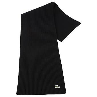 Lacoste Plain Wool Scarf - Black