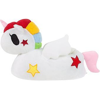 Unicorn 3D White Girl's Slippers