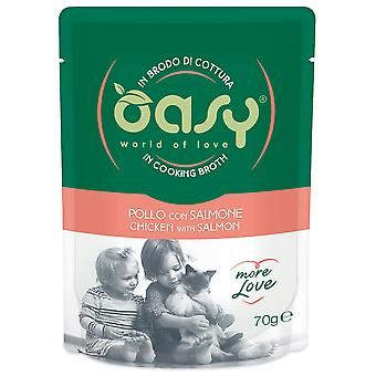 Oasy Chicken Pouch with Salmon (Cats , Cat Food , Wet Food)