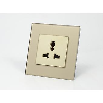 Ik LumoS als luxe gouden kristalglas Unswitched 3-pins Multi Plug één Socket