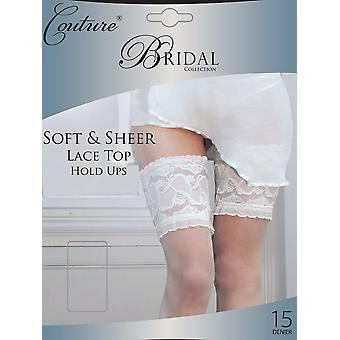 Couture Bridal Soft & Sheer Lace Top Hold Ups - Hosiery Outlet