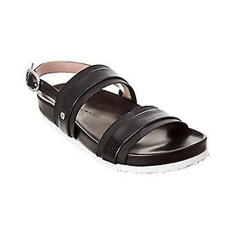 Taryn Rose Collection Sandra Leather Sandal, 7.5 Black