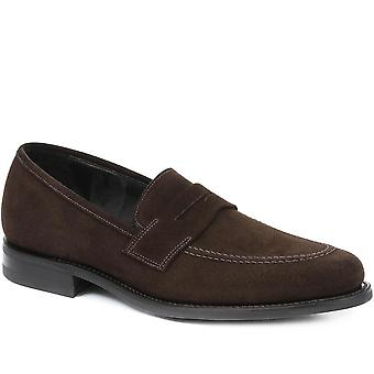 Loake by Jones Bootmaker Mens Seneca Goodyear Welted Leather Penny Loafer