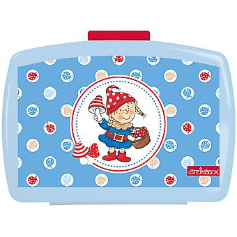 STEINBECK ZWERGE Children's bread tin with plastic blue insert