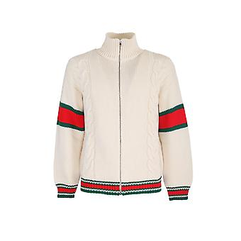 Gucci 599311xka329133 Men's White Wool Sweater