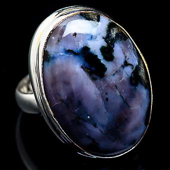 Indigo Gabbro Ring Size 5.25 (925 Sterling Silver)  - Handmade Boho Vintage Jewelry RING4834