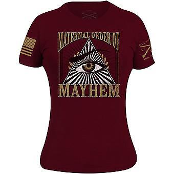 Grunt Style Women's Maternal Order of Mayhem T-Shirt - Maroon