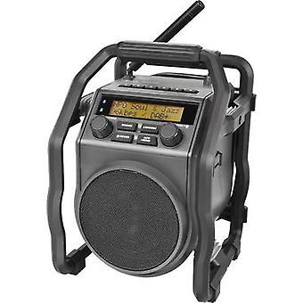 PerfectPro UBOX 400R Munkahelyi rádió DAB+, FM AUX, Bluetooth fröccsenésálló, porálló, ütésálló, újratölthető fekete