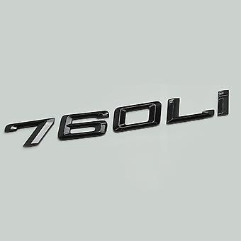 Gloss Black 760Li Bil Model Bageste Boot Number Letter Sticker Decal Badge Emblem for 7-serien