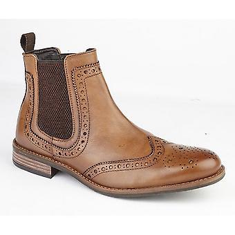 Roamingtaxorna Mens hög Brogue Chelsea Boot