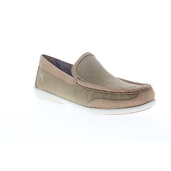 Tommy Bahama Taormina  Mens Brown Canvas Casual Slip On Loafers Shoes