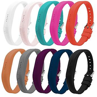 Replacement Wristband Bracelet Strap Band for Fitbit Flex 2 Classic Buckle[Large,Red] BUY 2 GET 1 FREE