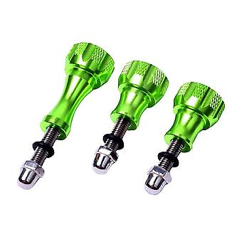 3x Aluminium screws for GoPro - Green