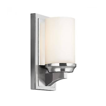 Amalia Wall Lamp, Polished Chrome And Opal Glass 24.1 Cm