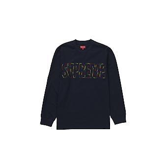 Supreme International L/S Tee Navy - Kleidung