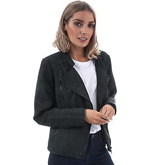 Women's Only Ava Faux Leather Jacket in Black