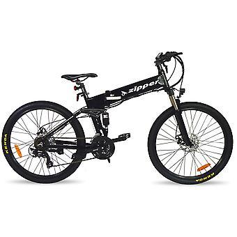 "Z4 21-Speed Folding Electric Mountain Bike 26"" - Black"