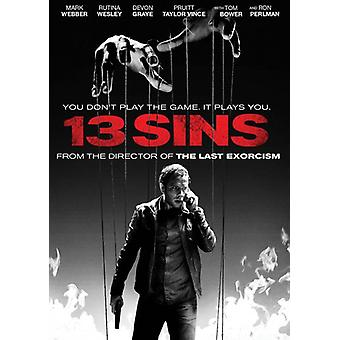 13 Sins [DVD] USA import
