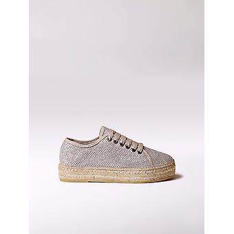 Toni Pons sporty lace up espadrille made of shiny fabric - FEDRA-S