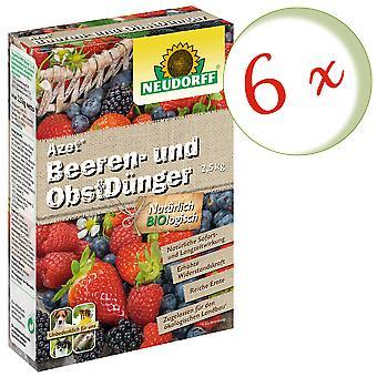 Sparset: 6 x NEWDORFF Azet® Marja- ja hedelmälannoitetta, 2,5 kg