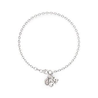 Miffy Sterling Silver Triple Charm Bracelet