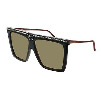Gucci GG0733S 005 Green/Green Sunglasses