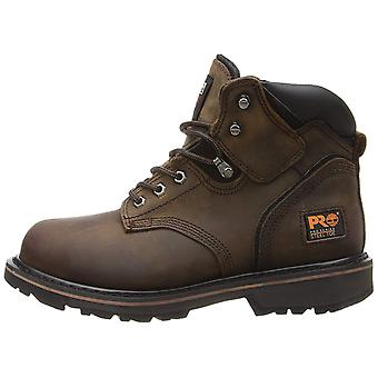 """Timberland Mens Pit Boss 6"""" Leather Steel toe Lace Up Safety Shoes"""