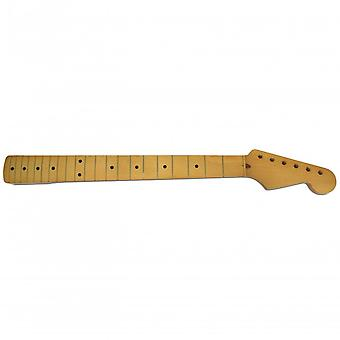 Hosco Strat Vintage-style Maple Replacement Neck Teinté Yellow Gloss Finish, 21 Fret