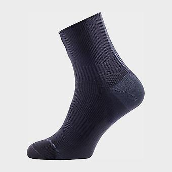 Sealskinz Men's Thin Ankle Hydrostop Waterproof Socks Black/Anthracite