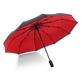 Ten Bone Automatic Folding Umbrella - Female Male Car Luxury Large Windproof Umbrella