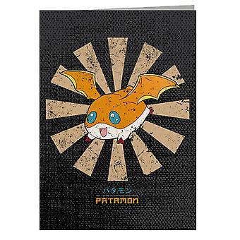 Patamon Retro Japanese Digimon Greeting Card