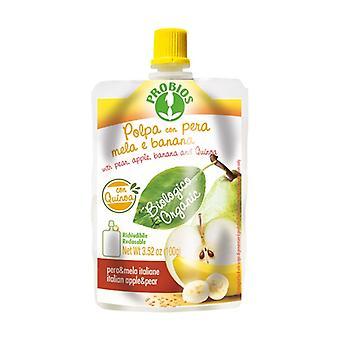 الكمثرى التفاح الموز الكينوا لب - حزمة doypack 100 غرام